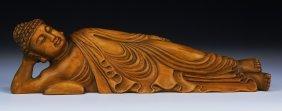 A Chinese Antique Boxwood Buddha