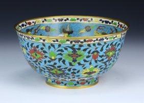 A Fine Chinese Antique Cloisonne Enamel Bowl