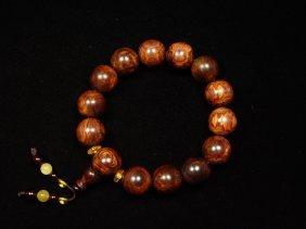 A Huanghuali Beads Bracelet