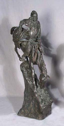 "BRONZE SCULPTURE ""THE MOUNTAIN MAN"" AFTER FREDERIC"