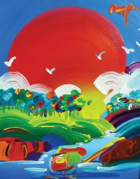 PETER MAX (1937- ) GERMAN - ORIGINAL OIL ON CANVAS