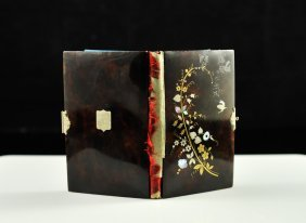Antique French Inlaid Tortoise Shell Pocket Book