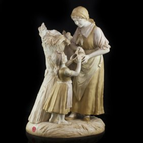 Royal Vienna Wahliss Figural Ceramic Vase(34)