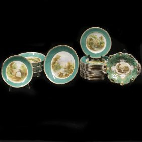 Antique Possibly Coalport Porcelain Set