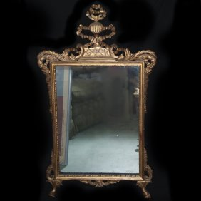 Large Gilded Wooden Mirror