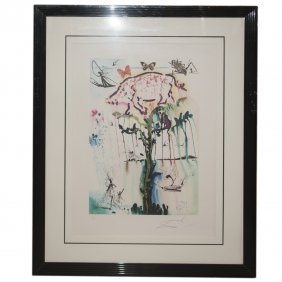 "Salvador Dali ""pig & Pepper"" Lithograph"