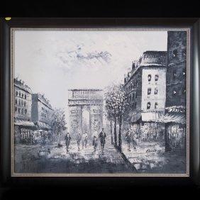 Acrylic On Canvas By Carolyn Burnett (french 19th/20th