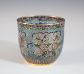 Reverse Glass Cloisonne Cup