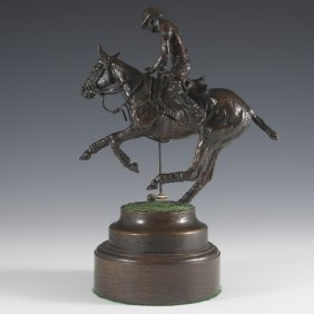 Signed Polo Player Bronze