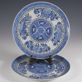 Chinese BlueÊ& White Export Plates