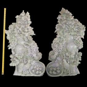 Large Chinese Lavender Jade Sculptures