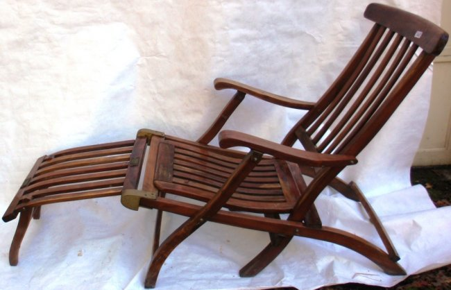 165 r m s queen mary 1st class folding deck chair