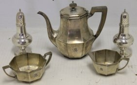 3 Pc Tiffany Sterling Silver Demitasse Set Along