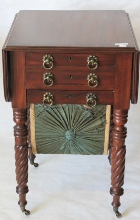 Early 19th C American Federal Work Table,
