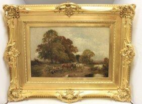 William Gozzard (19th C, British), Oil Painting