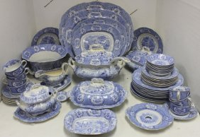 57 Pieces Of Late 19th C Ridgway Transferware
