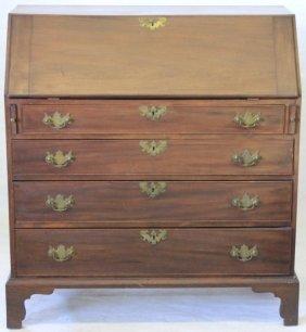 Late 18th C American Walnut Slant-lid Desk,