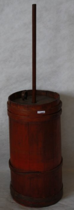 19th C American Butter Churn With Original Top