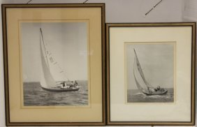Two 20th C Photographs By Norman Fortier, Framed