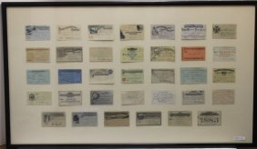 34 Railroad Tickets. Most Are From The 1880's,