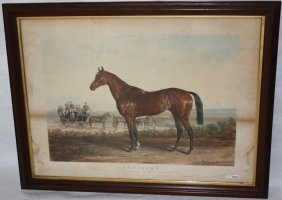 Colored Lithograph Titled Kentucky By Lexington