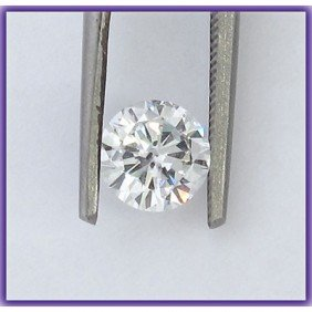 Certified 0.67 Ct Round Brilliant Diamond J,I1