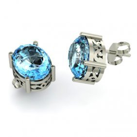 Topaz 7ctw Earring 14kt White Gold