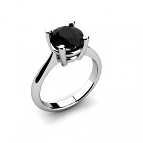 Black Diamond 2.00ctw Ring 14kt White Gold