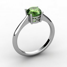 Tourmaline 0.75 Ctw Ring 14kt White Gold