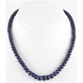 308.94ctw Natural Sapphire Rondelles Necklace