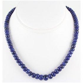 281.23ctw Natural Sapphire Rondelles Necklace