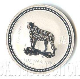 Australian Lunar Silver 1 Oz Silver 2010 Tiger