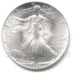 Uncirculated Silver Eagle 1986