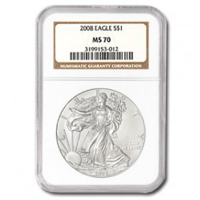 2008 Silver American Eagle (NGC MS-70)