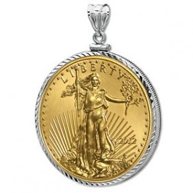 2012 1/4 Oz Gold Eagle White Gold Pendant (DiamondScrew