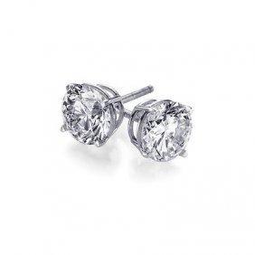 0.25 Ctw Round Cut Diamond Stud Earrings G-H, VVS