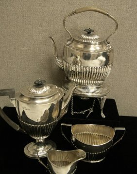 George V Sterling Silver 5-Piece Tea And Coffee Ser