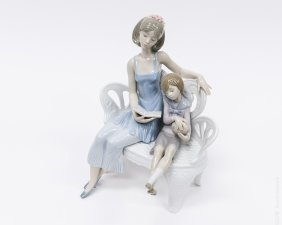 Lladro Porcelain Figural Group, Once Upon A Time.