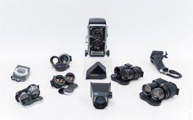 Mamiya C33 Camera With 6 Lenses.