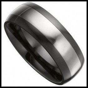 DOMED CERAMIC AND TUNGSTEN BAND