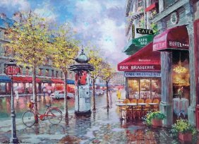 SAM PARK RAINY DAY IN PARIS HAND SIGNED LIMITED ED