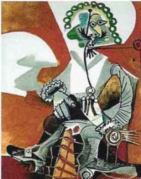 #103 BUCKLED SHOE MAN PICASSO ESTATE SIGNED GICL�E
