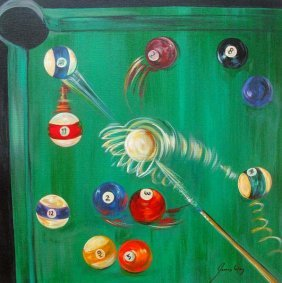 JAMES WING GREEN BILLIARDS HAND SIGNED LIMITED ED