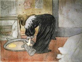 HENRI TOULOUSE-LAUTREC - ELLES: WOMAN WITH A TUB