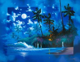 JAMES COLEMAN FULL MOON HAND SIGNED LIMITED ED GICL
