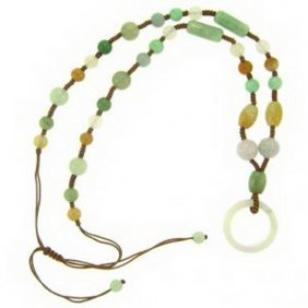 NATURAL MULTI-COLOR JADE NECKLACE