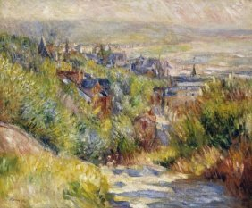PIERRE AUGUSTE RENOIR - THE HEIGHTS AT TROUVILLE