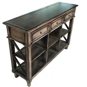 Seasoned Wood Console