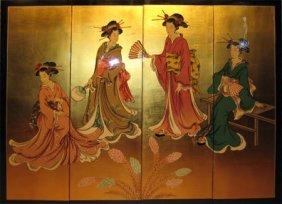Oriental Wall Panels Geisha Design
