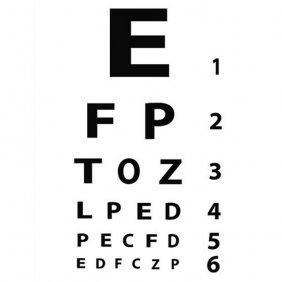 Mod Eye Chart Gallery Wrap